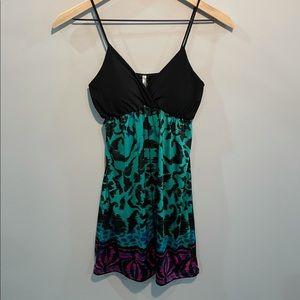 Kiwi Patterned Mini Dress